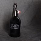 Lagers Growler, 32 once growler with logo. People will like you better if you share your beer. $15.00 each